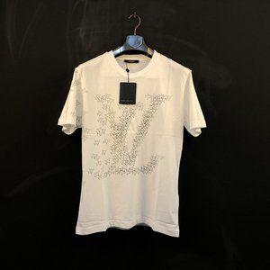 "Louis Vuitton Men Planes Printed White T-Shirt ""M"""